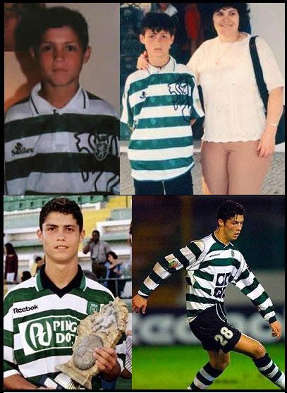 عکس های دیدنی از کودکی تا بزرگسالی کریستیانو رونالدو