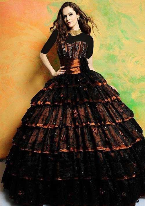 مدل لباس نامزدی رنگ بنفش 2014