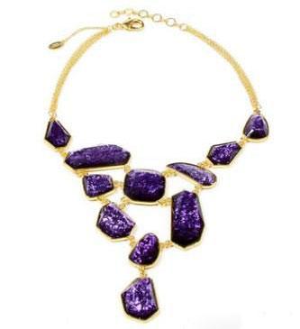 مدل جواهرات بنفش رنگ سال 93