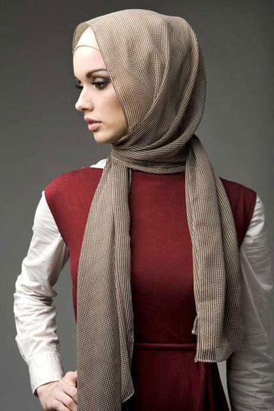 مدل بستن شال و روسری 2014