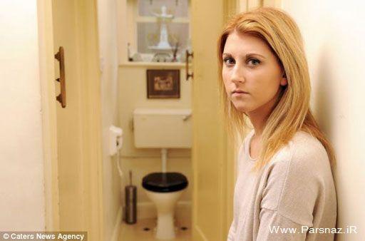 این دختر 19 ساله عاشق توالت رفتن است (عکس)
