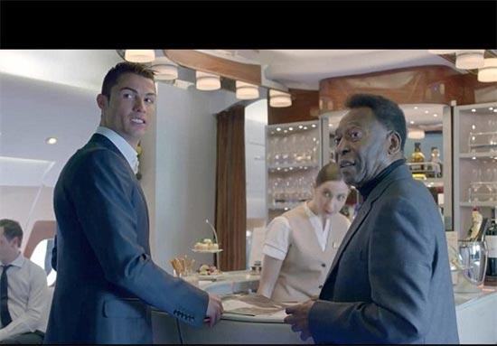 کریس رونالدو و پله در فیلمی تبلیغاتی (عکس)