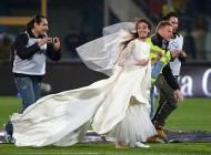 یک عروس زیبا بازی یوونتوس را متوقف کرد (عکس)