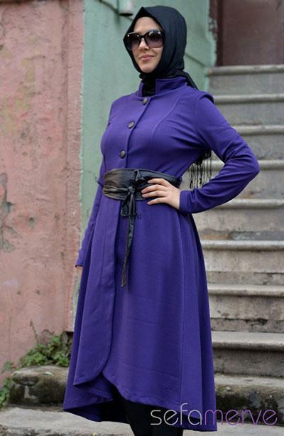 مدل مانتو به رنگ بنفش عید نوروز 93