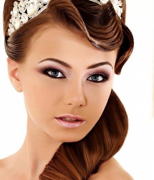 عکس هایی از متدهای آرایش صورت و موی عروس