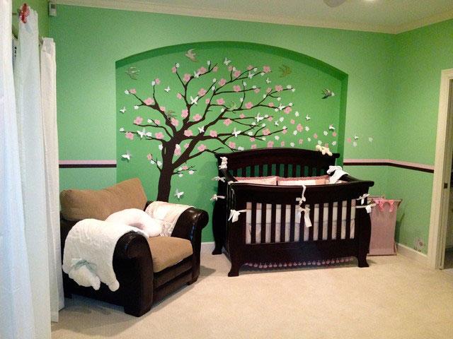 طراحی دکوراسیون داخلی اتاق خواب کودکان دختر