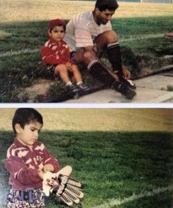 خاطرات جالب عابدزاده از روزهای کودکی پسرش (عکس)