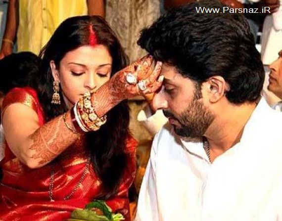 عکس هایی از ازدواج آیشواریا رای با آمیتا باچان در سال 2012
