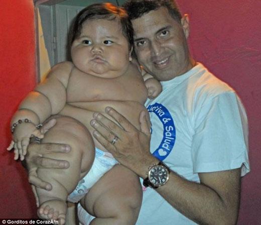 سنگین وزن ترین نوزاد در جهان +عکس