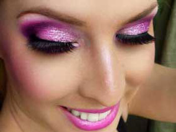 مدل های جدید آرایش بنفش 2014