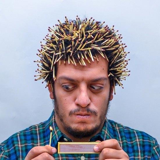 عکس های جالب ، وقتی ندونی با موهات چکار کنی