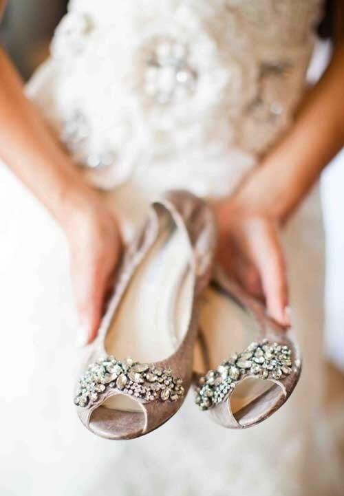 مدل کفش بدون پاشنه عروس 2018