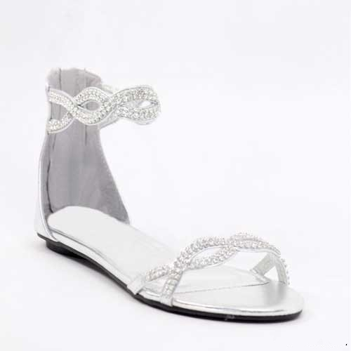 کفش بدون پاشنه عروس