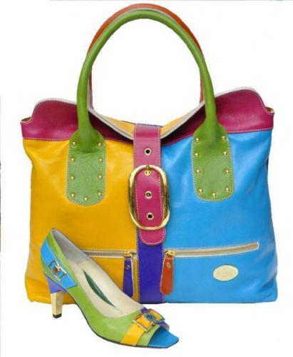 ست کیف و کفش در رنگ های متنوع