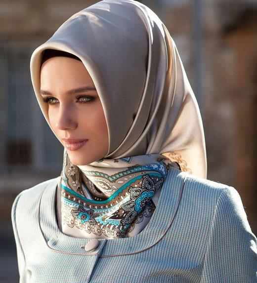 ست مدل مانتو و روسری 2014