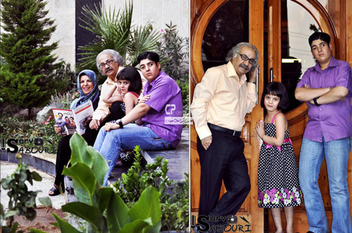 عکسهای جدید بازیگران سرشناس ایرانی در کنار خانواده