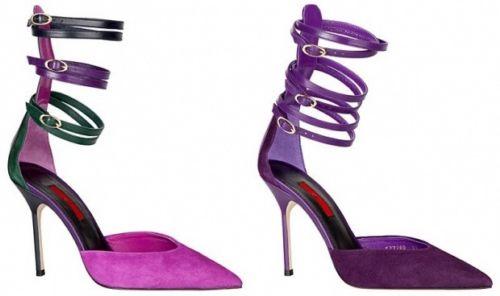 مدل کفش پاشنه دار رنگ بنفش 2014