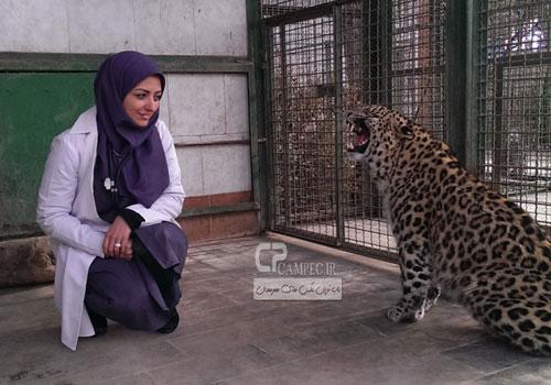 عکس های جالب نفیسه روشن با حیوانات
