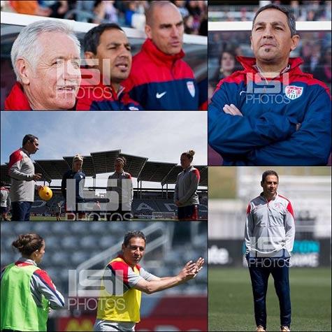 یک ایرانی مربی تیم ملی فوتبال زنان آمریكا است (عكس)