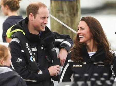 تصاویری از قایقرانی ملکه انگلستان