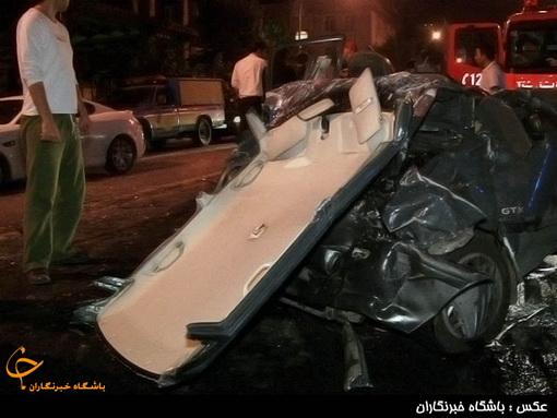 تصادف مرگبار خیابان پاسداران تهران (تصاویر)