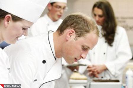 پرنس ویلیام و کیت میدلتون در حال آشپزی..عکس