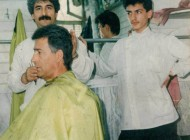 ناصر حجازی در آرایشگاهی در رشت..(عکس)