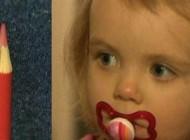 فرو رفتن مداد ده سانتی در چشم این دختر کوچک (عکس)