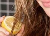 هایلایت کرد موها با آب لیمو