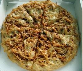 تهیه پیتزا ماکارونی