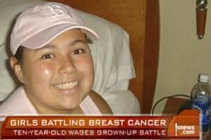 مقاومت این دختر با بیماری سرطان سینه (عکس)