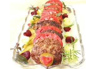 طرز پخت کوکو گردو و گوشت چرخ کرده