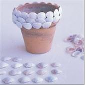 گلدان صدفی بسازیم