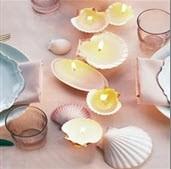 ساخت شمعهای  صدفی عاشقانه