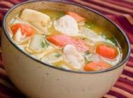 طپخ سوپ جوجه و ذرت تازه با شیر
