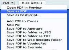 چگونه در مک PDF بسازیم ؟