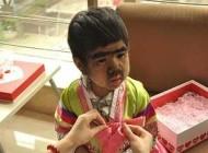 این دختر با چهره عجیب و غریب (عکس)