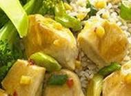 طپخ خوراک مرغ و برنج رژیمی