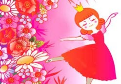 داستان کودکانه ی ملکه گل ها