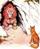 داستان کودکانه ی شیر بد جنس و روباه باهوش
