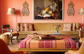جلوه بیشتر خانه با دکوراسیون سنتی هند