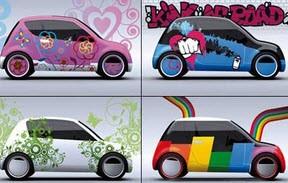 خودرویی که قابلیت تعویض رنگ هم زمان دارد