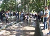 دستگیری دست جمعی افراد در مراسم جنجالی آب بازی در کرج