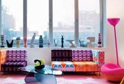 خانه ای زیبا با رنگ های ترکیبی