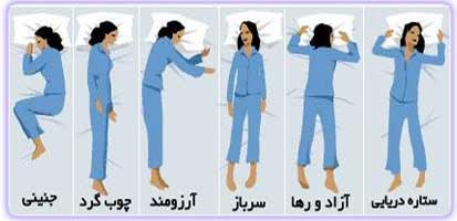 نوع خوابیدن و شخصیت افراد