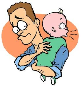 چرا بهتر است بچه آروغ بزند؟