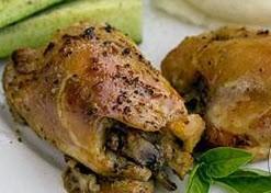 طبخ مرغ پر شده با قارچ