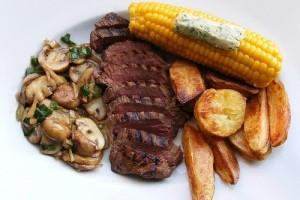 طبخ استیک گوشت شتر مرغ