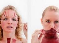 زنی که درآمدش از پوست صورتش است (عکس)