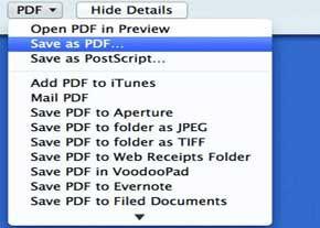 چگونگی ساخت PDF در مك